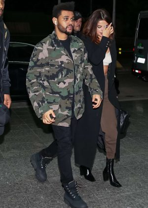 Selena Gomez And The Weeknd At The Airport In Sao Paulo Gotceleb