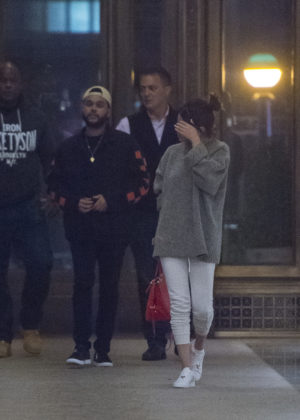 Selena Gomez and The Weeknd - Going to dinner in New York City