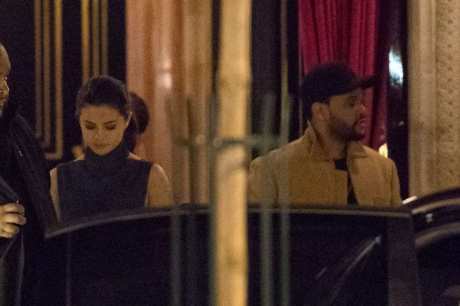 Selena Gomez and The Weeknd Leaves La Reserve Hotel in Paris