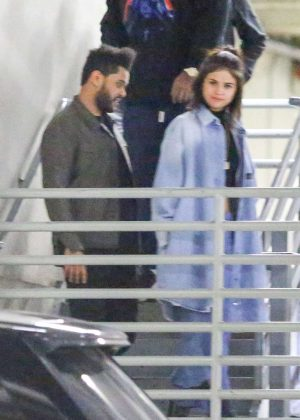 Selena Gomez and The Weeknd - Leaving Dave & Buster's in Hollywood