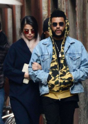 Selena Gomez and The Weeknd Out in Venice