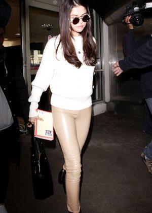 Selena Gomez: Arrives at Los Angeles International Airport -09