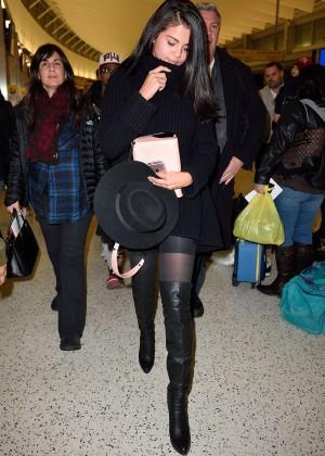 Selena Gomez: Arriving at JFK Airport -12