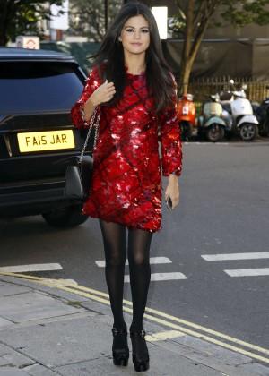 Selena Gomez in Red Mini Dress -05