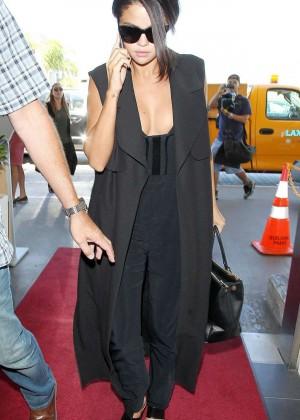 Selena Gomez: Arriving at LAX Airport -02