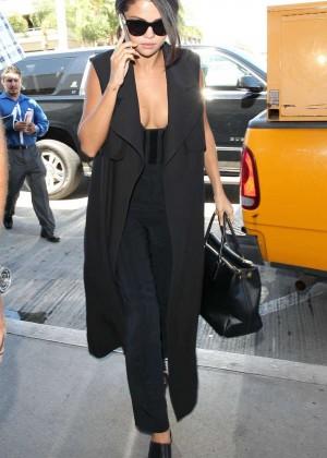 Selena Gomez: Arriving at LAX Airport -04