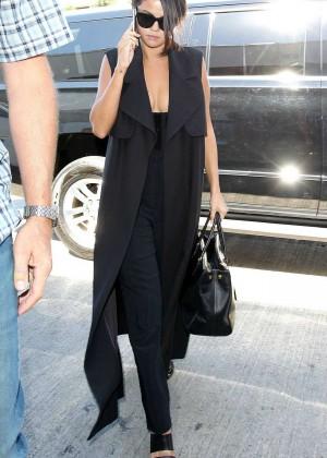 Selena Gomez: Arriving at LAX Airport -05