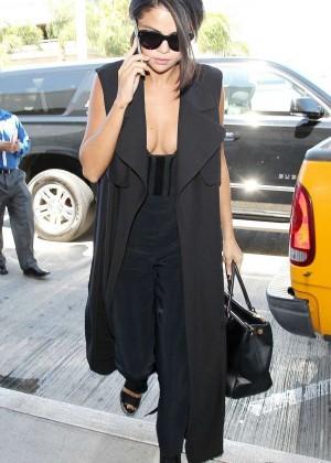 Selena Gomez: Arriving at LAX Airport -08