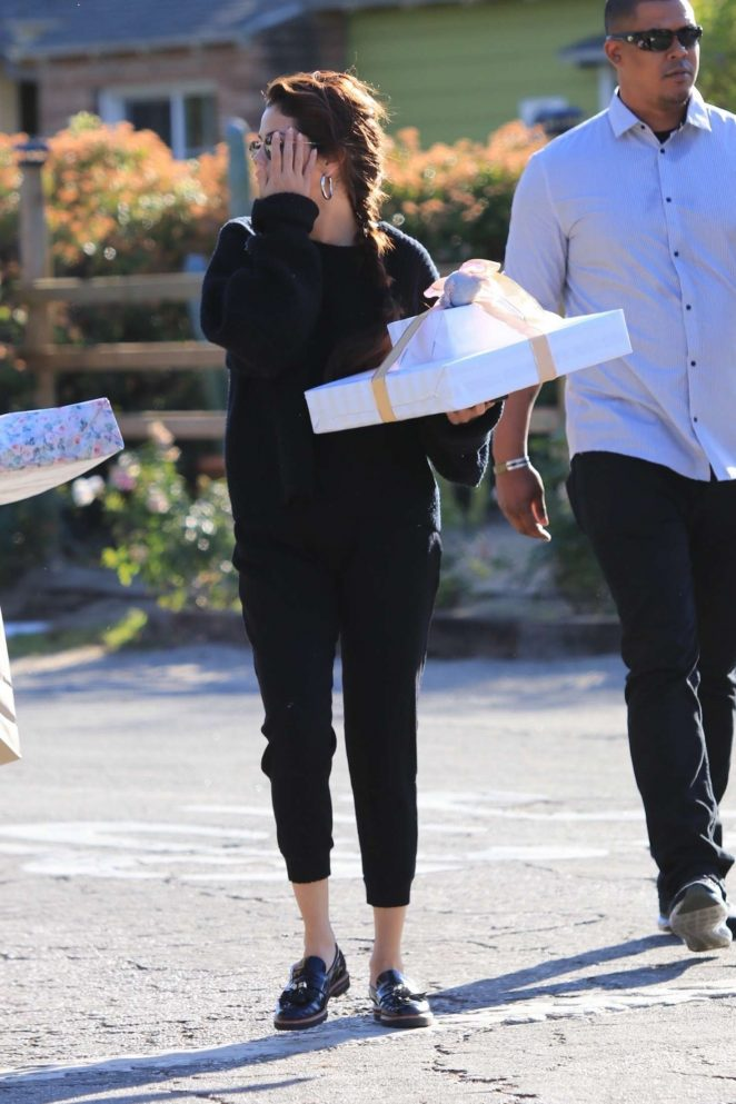 Selena Gomez: Arriving to a party in Studio City -09