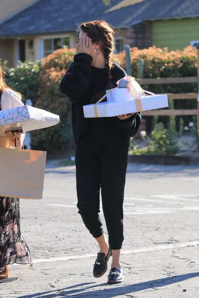 Selena Gomez: Arriving to a party in Studio City -16