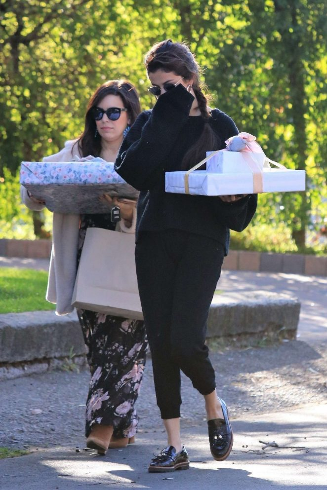 Selena Gomez: Arriving to a party in Studio City -17