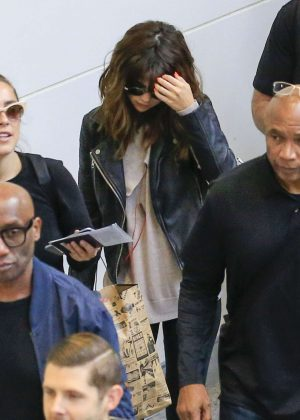 Selena Gomez at Brisbane airport in Australia