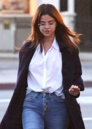 Selena Gomez at Ernie's Mexican restaurant in Los Angeles