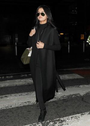 Selena Gomez at Heathrow Airport in London