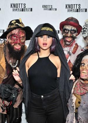 Selena Gomez at Knott's Scary Farm in Buena Park