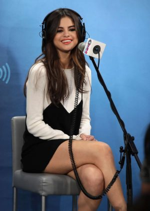 Selena Gomez at The Morning Mash Up on SiriusXM Hit in NYC
