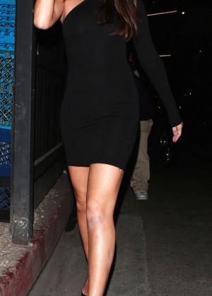 Selena Gomez Leggy in Mini Dress -02