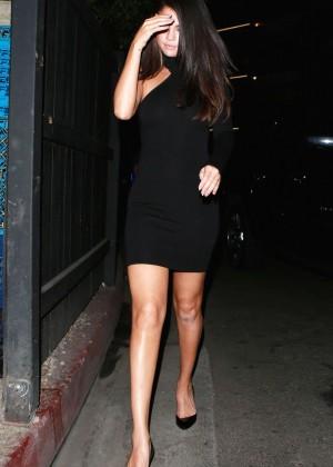 Selena Gomez Leggy in Mini Dress -03