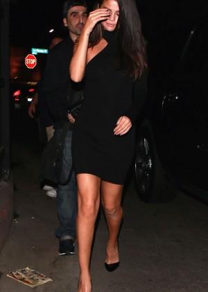 Selena Gomez Leggy in Mini Dress -04
