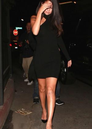 Selena Gomez Leggy in Mini Dress -07