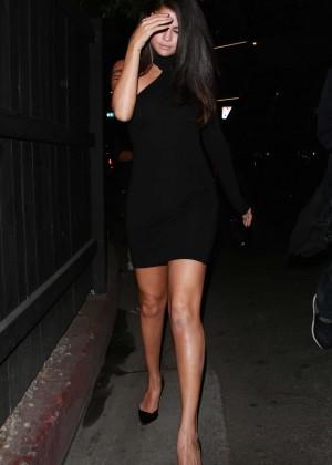 Selena Gomez Leggy in Mini Dress -08
