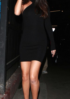 Selena Gomez Leggy in Mini Dress -09