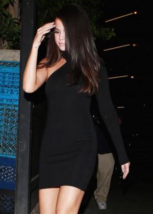 Selena Gomez Leggy in Mini Dress -11