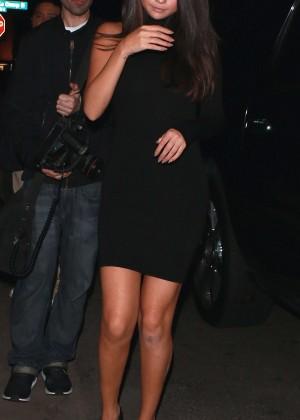 Selena Gomez Leggy in Mini Dress -13