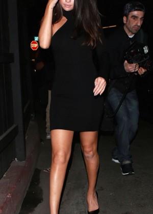 Selena Gomez Leggy in Mini Dress -17