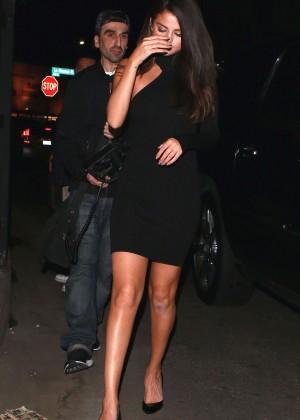 Selena Gomez Leggy in Mini Dress -18