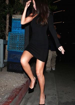 Selena Gomez Leggy in Mini Dress -21