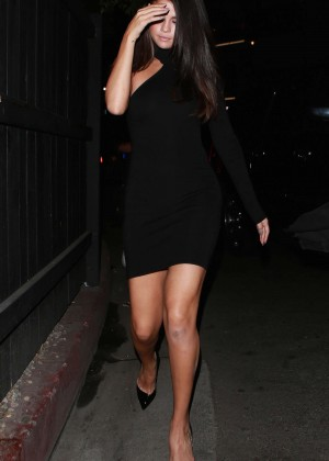Selena Gomez Leggy in Mini Dress -22