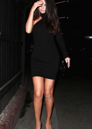 Selena Gomez Leggy in Mini Dress -23