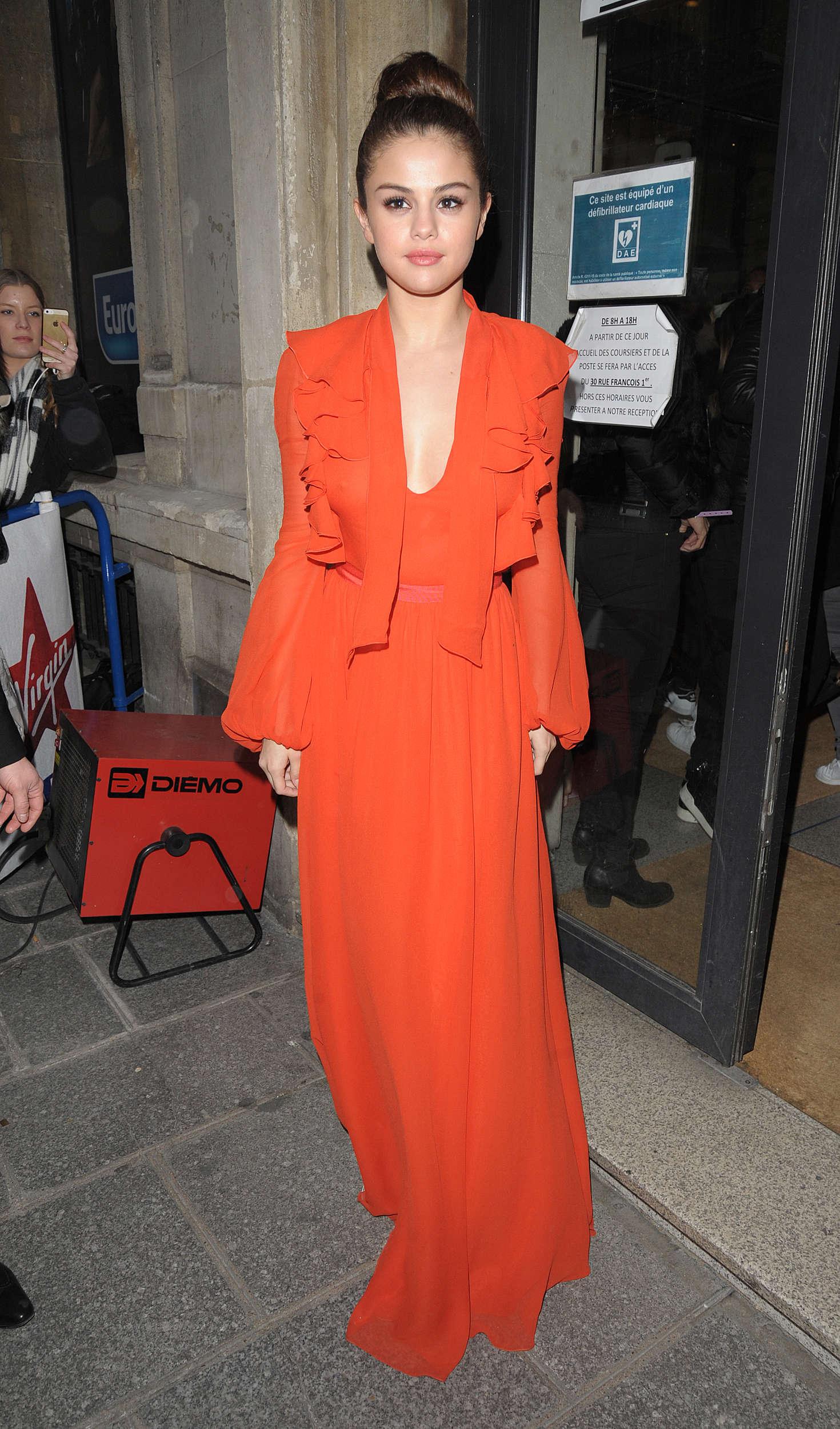 Selena Gomez at Virgin Radio Station in Paris