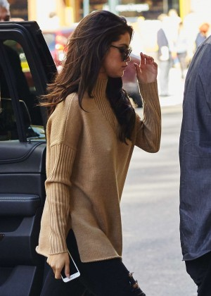 Selena Gomez at Zuma Restaurant in New York City