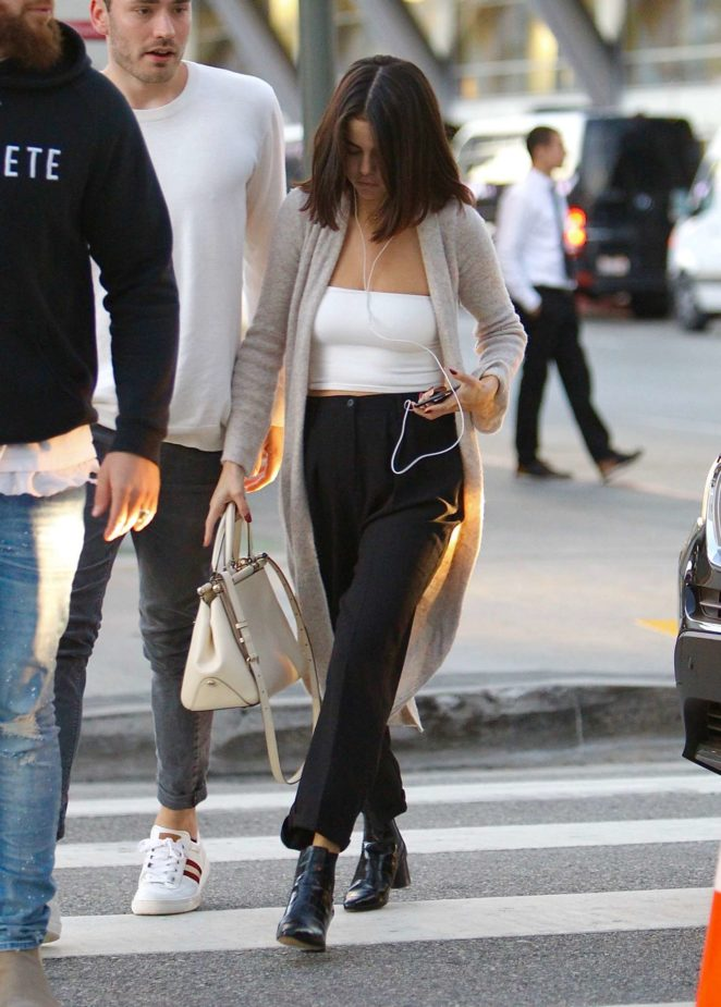 Selena Gomez - Attended Saturday Church Service in Toluca Lake