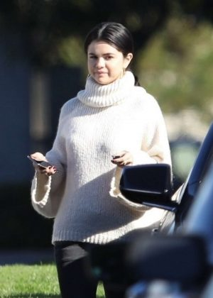 Selena Gomez - Attends Sunday church services in Irvine