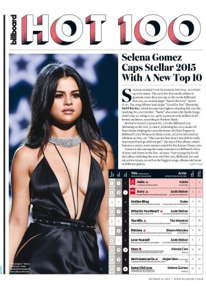 Selena Gomez - Billboard Magazine (December 2015)