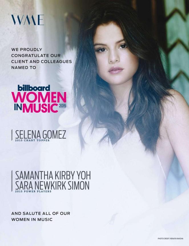 Selena Gomez - Billboard US Magazine (December 2015)