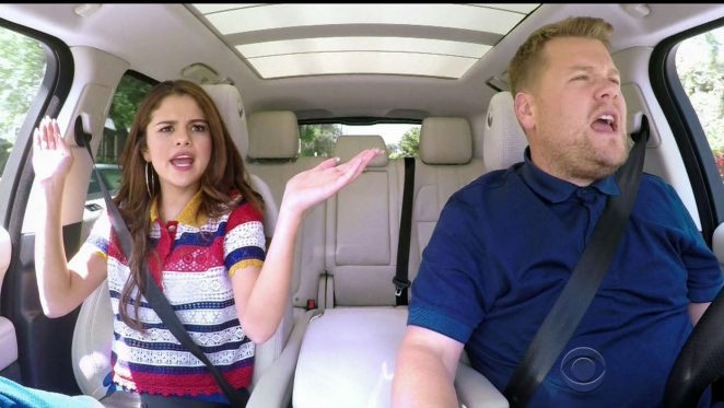 Selena Gomez - Carpool karaoke on 'The Late Late Show with James Corden' Stills