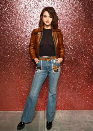 Selena Gomez - Coach SS18 fashion show during NYFW at Basketball City - South Street