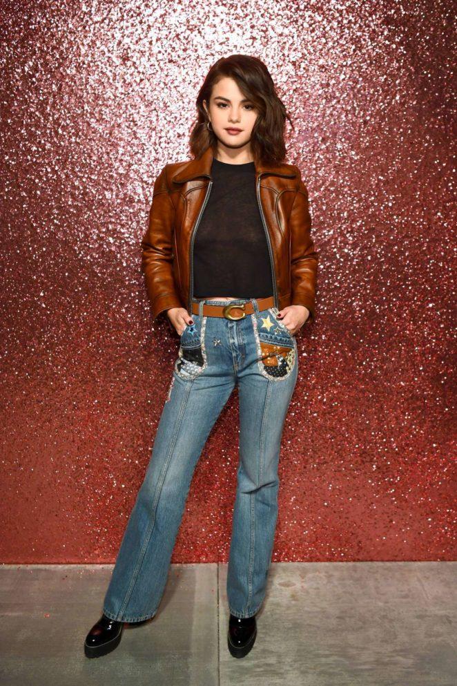 Selena Gomez - Coach SS18 fashion show during NYFW at Basketball City - South Street