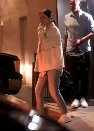 Selena Gomez - Exiting a music studio in LA