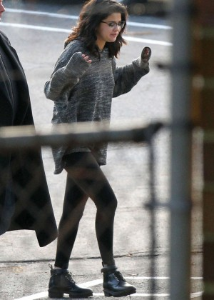 "Selena Gomez - Filming ""The Revised Fundamentals of Caregiving"" in Atlanta"