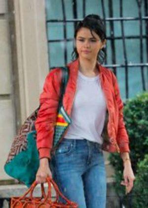 Selena Gomez - Filming Woody Allen movie in NYC