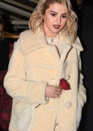 Selena Gomez - Heading to the afterparty at The Chiltern Firehouse in London