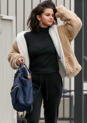 Selena Gomez - Heading to the studio in Los Angeles