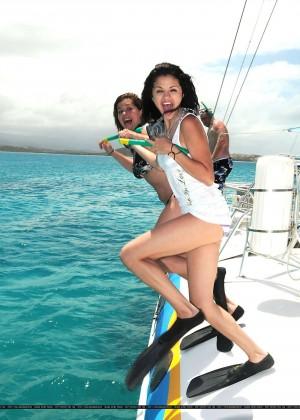 Selena Gomez in Bikini Bottoms -24