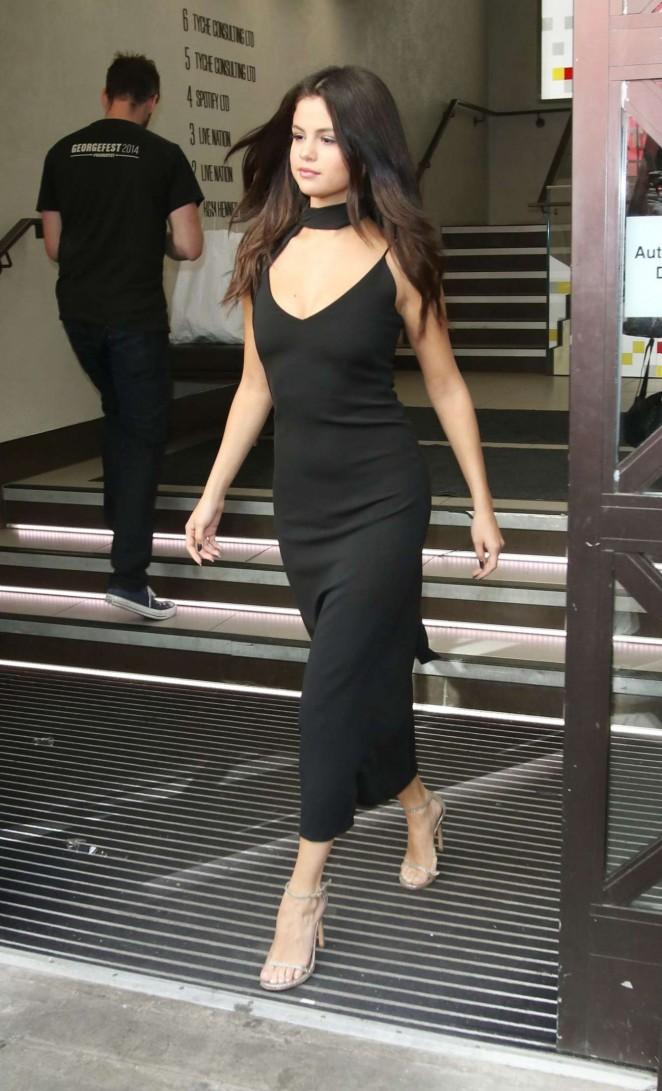 Selena Gomez in Black Dress -01
