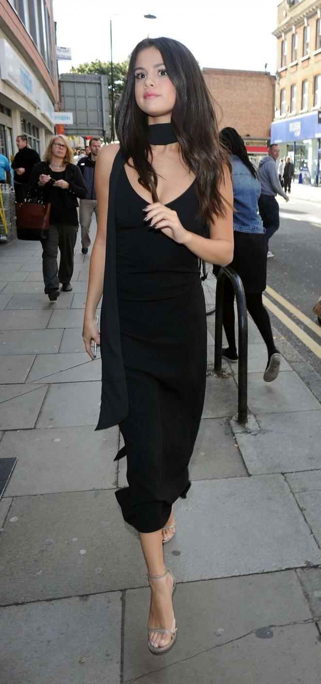 Selena Gomez in Black Dress -04